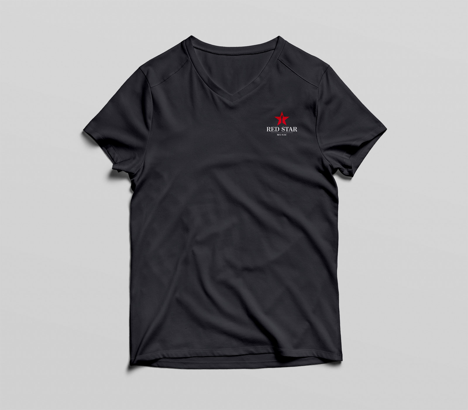 red star tee black front