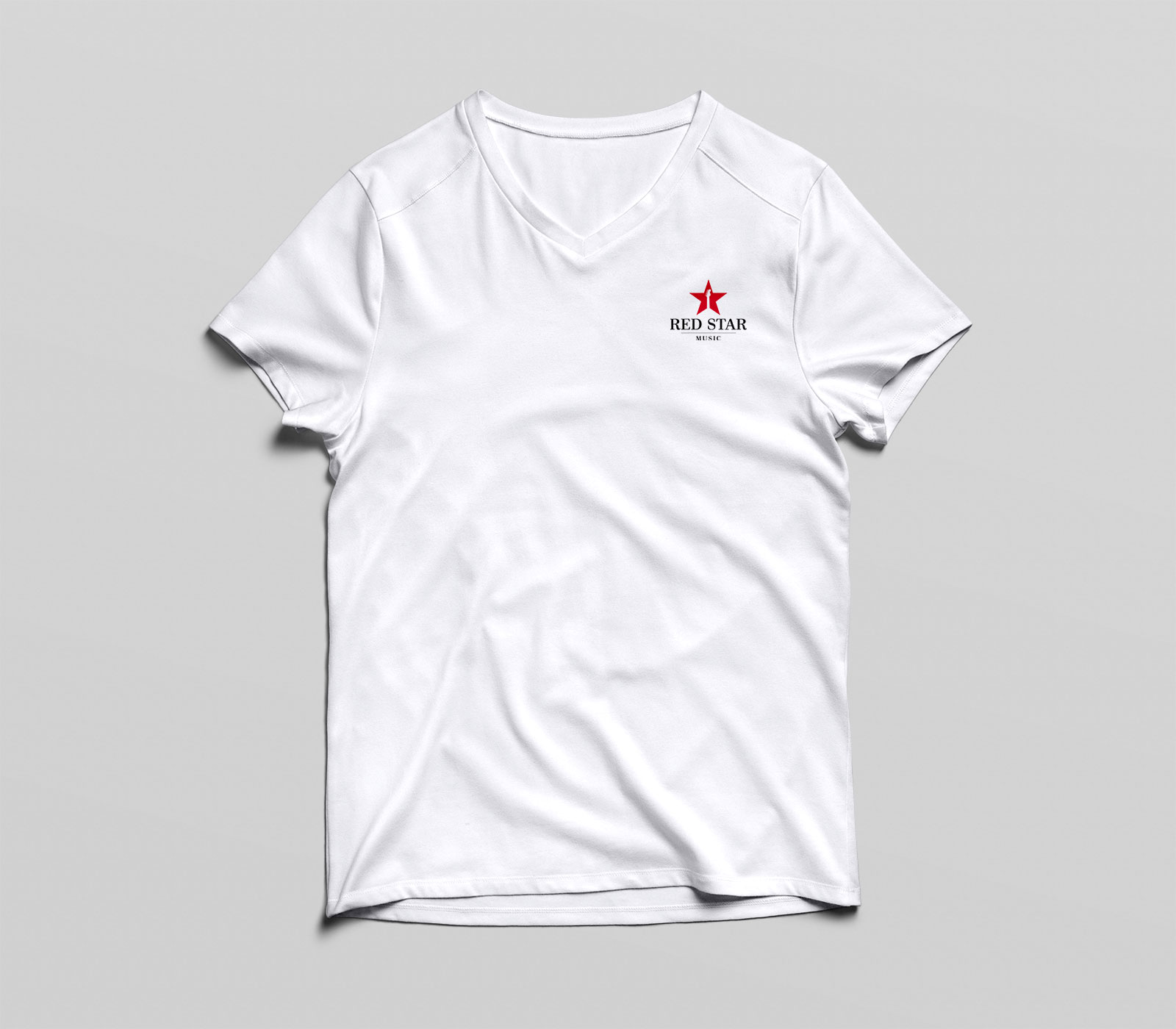 red star tee white front